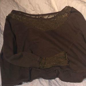 Tops - Free people cropped sweatshirt size S